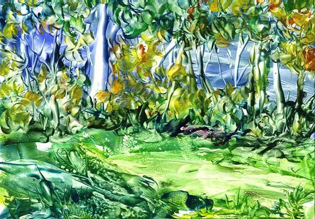 Art: Aspen Trees in Autumn - sold by Artist Ulrike 'Ricky' Martin