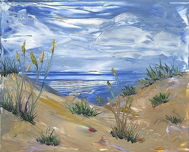 Art: The Way to the Beach - sold by Artist Ulrike 'Ricky' Martin