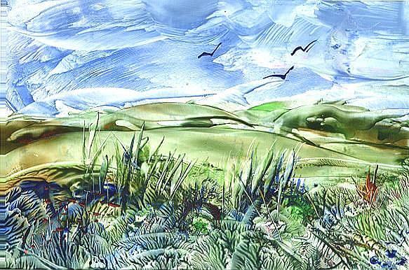 Art: Landscape - sold by Artist Ulrike 'Ricky' Martin