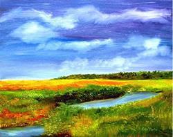 Art: Florida wetlands by Artist Ulrike 'Ricky' Martin
