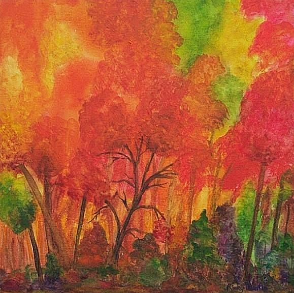 Art: Vibrant Trees - sold by Artist Ulrike 'Ricky' Martin