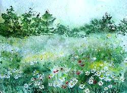 Art: Field of daisies by Artist Ulrike 'Ricky' Martin