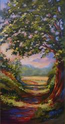 Art: Riverwalk - Morning Sun by Artist Patricia  Lee Christensen