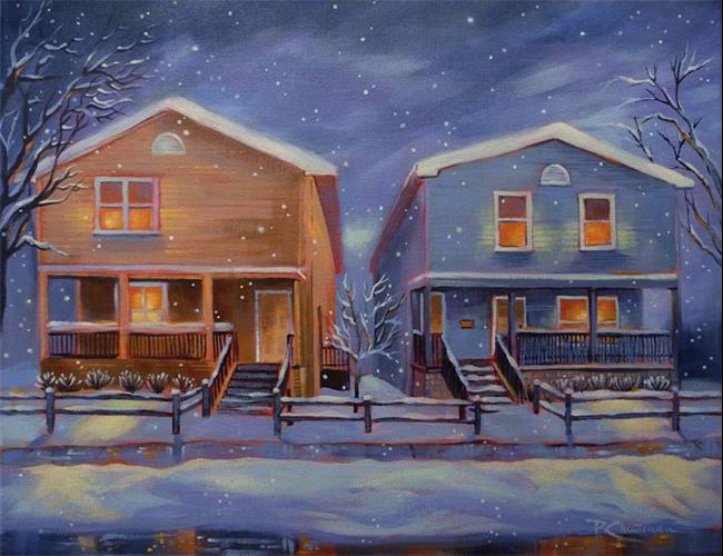 Art: Two Houses ~ A Love Story - Sold by Artist Patricia  Lee Christensen