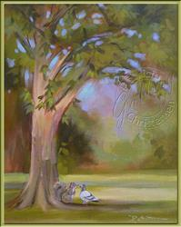 Art: Tree and Friends - Sold by Artist Patricia  Lee Christensen