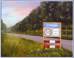 Art: Road to Dongen - Commission - (Sold) by Artist Patricia  Lee Christensen
