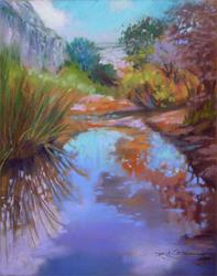 Art: Utah Desert Oasis by Artist Patricia  Lee Christensen