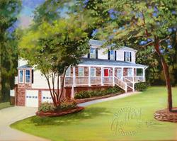 Art: Childhood Home ~ Commissioned Painting ~ SOLD by Artist Patricia  Lee Christensen