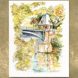 Art: Pont_Parmain-Isle-Adam_Final.jpg by Artist Patricia  Lee Christensen