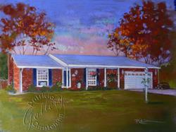 Art: Autumn at Home - Commission - (Sold) by Artist Patricia  Lee Christensen