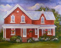 Art: Home Place - Commission - (Sold) by Artist Patricia  Lee Christensen