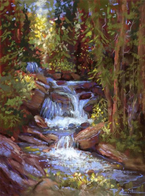 Art: Falls On Little Cottonwood Creek by Artist Patricia  Lee Christensen