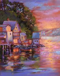 Art: Brown's Point, Puget Sound by Artist Patricia  Lee Christensen