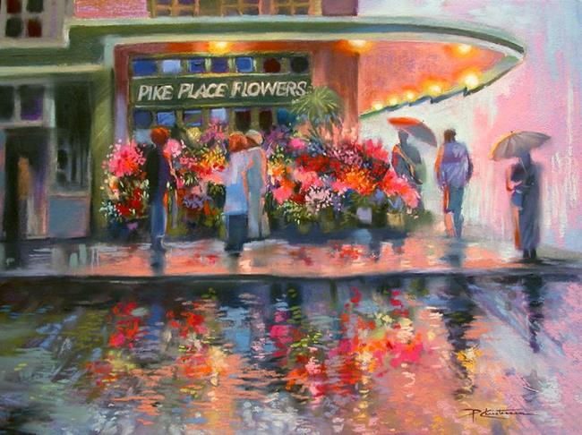 Art: Seattle's Pike Place Market Reflections by Artist Patricia  Lee Christensen