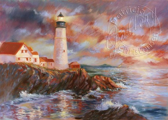 Lighthouse Airbrush Paintings http://www.ebsqart.com/Art-Galleries/Paintings-Pastels/41/Brightly-Beams-Portland-Headlight/691404/