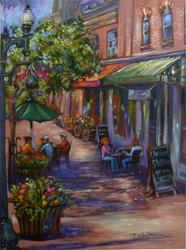 Art: 25th Street Repose (Sold) by Artist Patricia  Lee Christensen