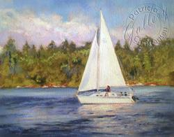 Art: Sail Away - Commission ~ SOLD by Artist Patricia  Lee Christensen