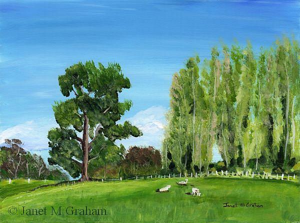 Art: Green Pastures by Artist Janet M Graham