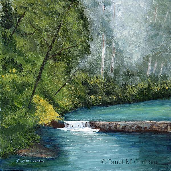 Art: River in the Forest by Artist Janet M Graham