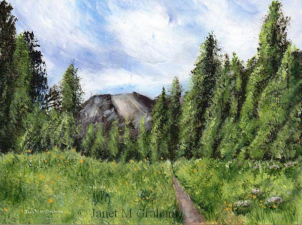 Art: Path to the Mountain by Artist Janet M Graham
