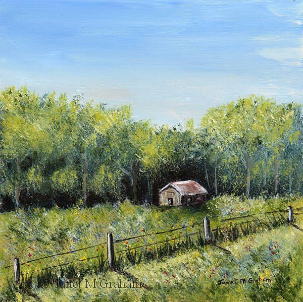 Art: Spring Cabin by Artist Janet M Graham