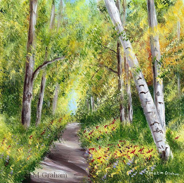 Art: Spring Path by Artist Janet M Graham