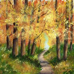 Art: Autumn Forest by Artist Janet M Graham