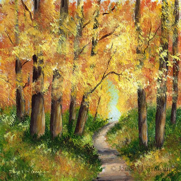 Art: Autumn Forest by Artist Janet M Graham
