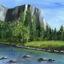 Art: Yosemite by Artist Janet M Graham
