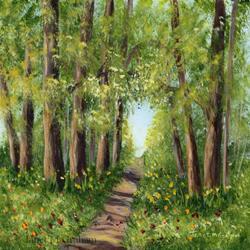 Art: Woodland Walk by Artist Janet M Graham