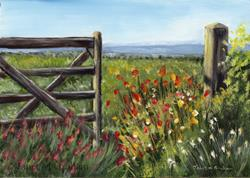 Art: Country Field by Artist Janet M Graham