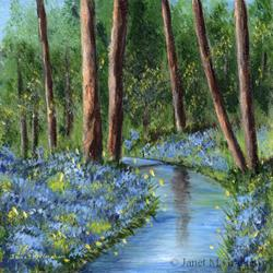 Art: Bluebell Glade by Artist Janet M Graham
