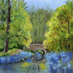 Art: Bluebell Bridge by Artist Janet M Graham