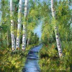 Art: Summer Birches by Artist Janet M Graham