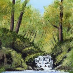 Art: Waterfall by Artist Janet M Graham