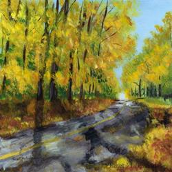 Art: Autumn Road by Artist Janet M Graham