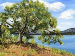 Art: Lakeside Tree by Artist Janet M Graham