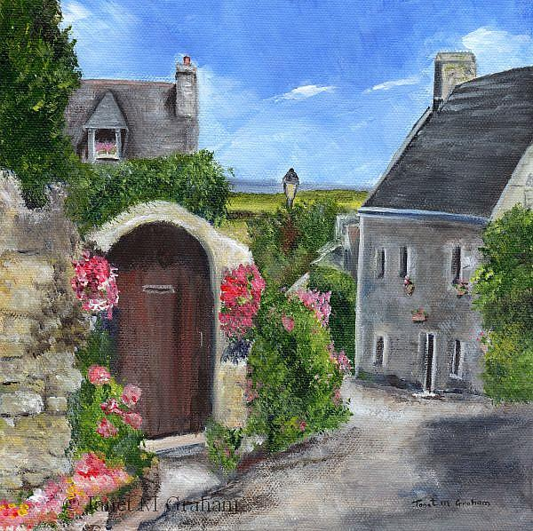 Art: Village Lane by Artist Janet M Graham