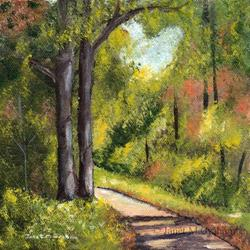Art: Forest Pathway by Artist Janet M Graham