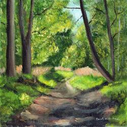 Art: Woodland Path by Artist Janet M Graham
