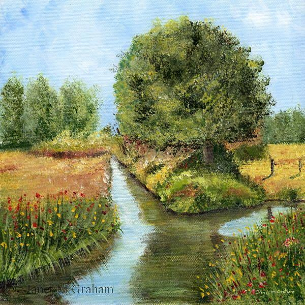 Art: Country River by Artist Janet M Graham
