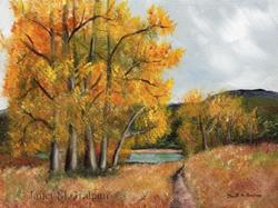Art: Autumn Lake by Artist Janet M Graham