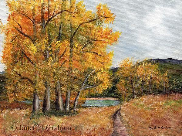 Art: Autumn Lake by Artist Janet M Graham