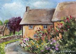 Art: Country Lane ACEO by Artist Janet M Graham