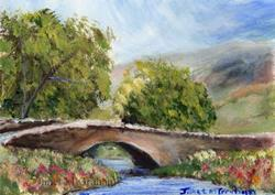 Art: Country Bridge ACEO by Artist Janet M Graham