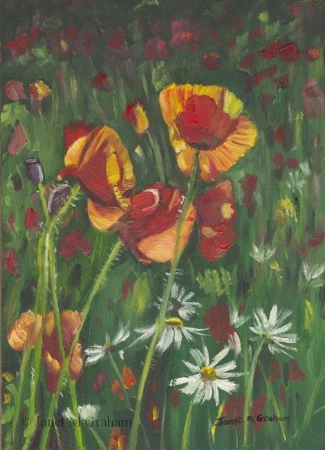 Art: Poppies by Artist Janet M Graham