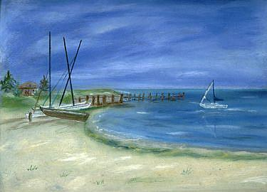 Art: Hobie Beach by Artist Shoshana Avramovitz