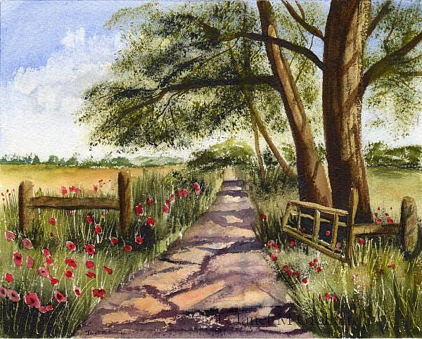 Art: Country Track by Artist Janet M Graham