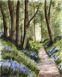 Art: Bluebell Walk by Artist Janet M Graham