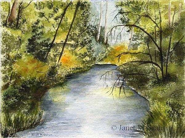 Art: Summer River by Artist Janet M Graham